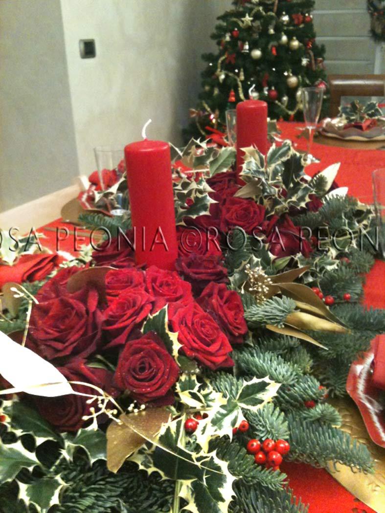 Buon natale rosa peonia studio for Agrifoglio immagini