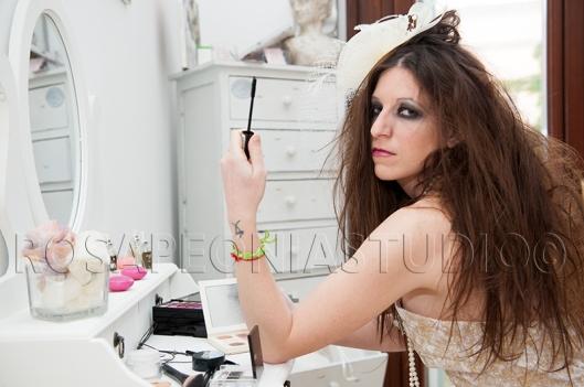 Ed ecco una sposa glamour ma rock!!!