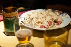 la pasta fatta in casa del TNT Pub...innaffiata di birra